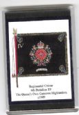 QUEEN'S OWN CAMERON HIGHLANDERS 1909 FRIDGE MAGNET (L)